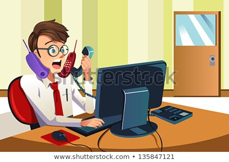 busy receptionist multitasking stock photo © photography33