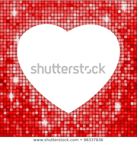 Red fame in the shape of heart. EPS 8 Stock photo © beholdereye