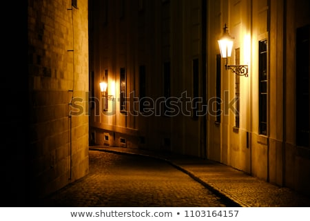 traditional gas lamp of the old town, prague Stock photo © courtyardpix