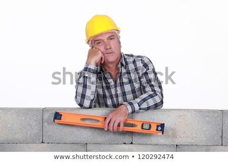 muratore · spirito · livello · uomo · costruzione - foto d'archivio © photography33