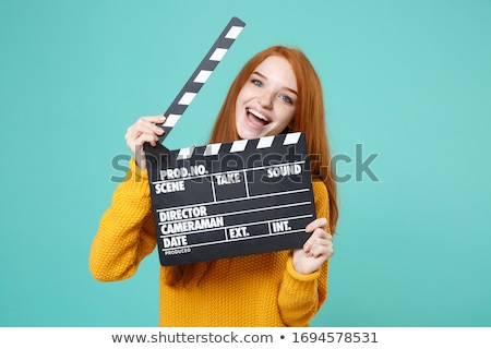 Woman with a clapperboard Stock photo © photography33