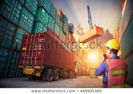 statek · towarowy · portu · duży · pomarańczowy · wody · przemysłowych - zdjęcia stock © cozyta