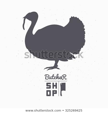 Turkey silhouettes set stock photo © Kaludov