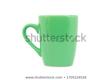 an empty green cup isolated on white stock photo © ozaiachin