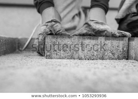 fém · állványzat · épület · régi · épület · külső · helyreállítás - stock fotó © photography33