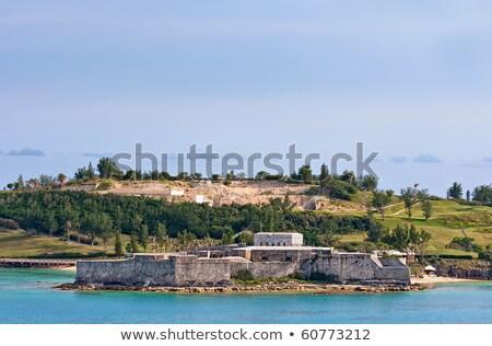 kustlijn · tonen · grond · woon- · huisvesting · hemel - stockfoto © sbonk