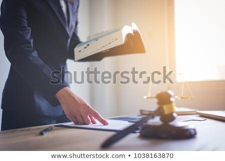 女性 裁判官 孤立した 白 法 人 ストックフォト © broker