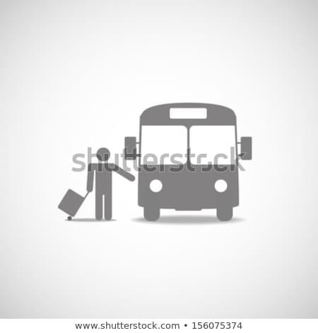 Havaalanı imzalamak otobüs durağı şehir yol Bina Stok fotoğraf © zzve