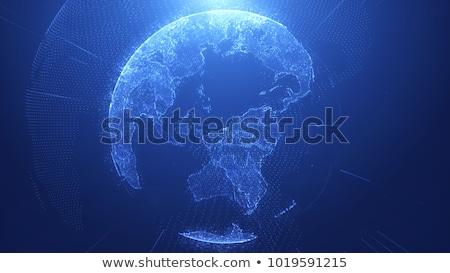 Azul terra ilustração cristal mapa projeto Foto stock © rudall30