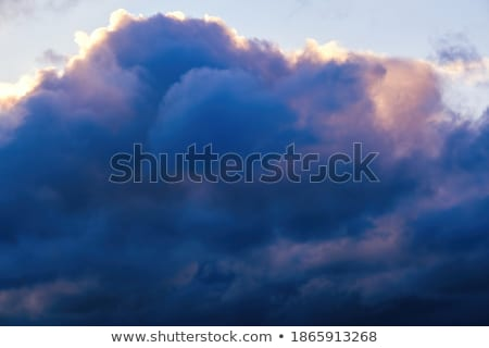Foto d'archivio: Dreamy Dark Deep Blue And Pink Sky Background