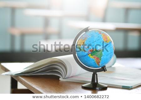escuela · primaria · geografía · clase · mundo · ninos · nino - foto stock © anna_om