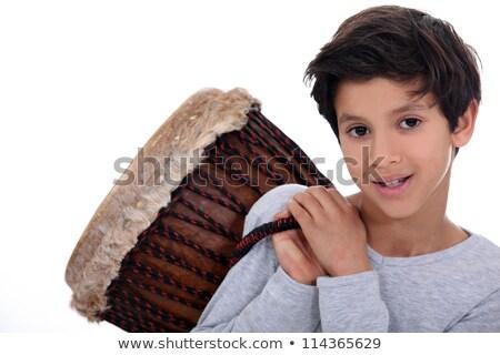 Pequeño nino hombro mano cara Foto stock © photography33