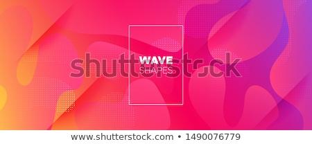 ストックフォト: 虹 · プレゼンテーション · 青 · 波 · 抽象的な