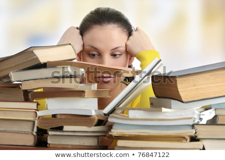 female student fed up with studying Stock photo © photography33