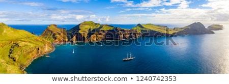 Madeira ada dağlar üzerinde bulutlar ağaç Stok fotoğraf © zittto