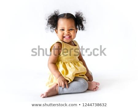 девушки черный леггинсы изолированный белый женщину Сток-фото © acidgrey