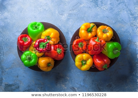 多くの 色 鐘 ピーマン 農民 市場 ストックフォト © bobkeenan