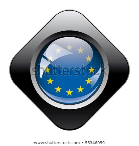 Европа иконки коллекция черный аннотация Сток-фото © robertosch
