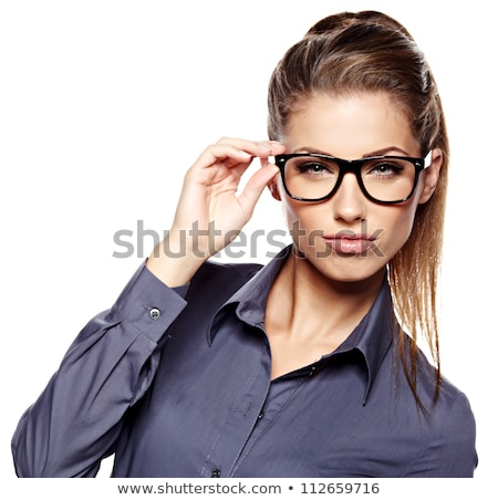 Beautiful businesswoman in glasses Stock photo © dash
