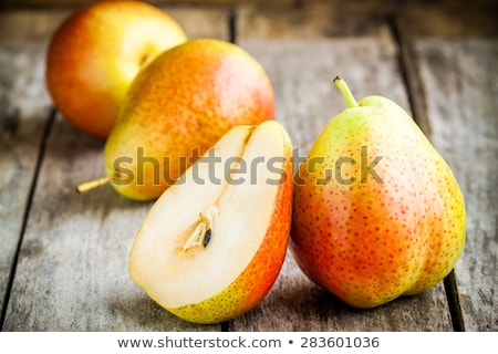 新鮮な 梨 ボウル 木材 食品 ストックフォト © dbvirago