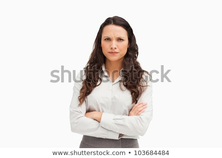 Portrait of a vexed employee against white background Stock photo © wavebreak_media