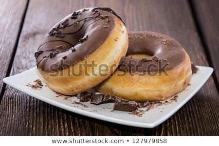 Chocolate donuts on plate Stock photo © stevanovicigor