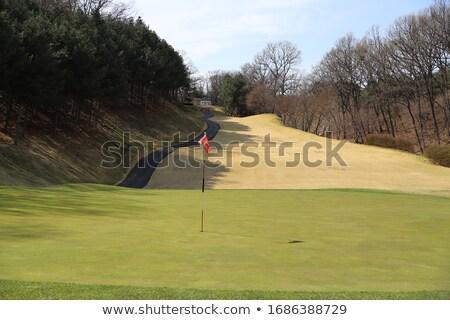 Foto stock: Campo · de · golf · temprano · primavera · último · nieve · Praga