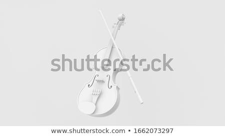 バイオリン · 白 · 孤立した · 黒 · 木材 - ストックフォト © Roka