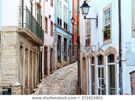 Renkli evler Portekiz binalar bulutlu Stok fotoğraf © gvictoria