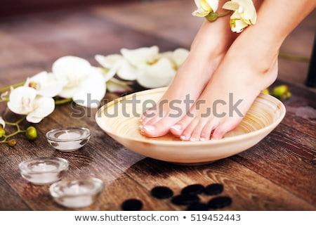 Belleza pies tratamiento foto flores piel Foto stock © Kesu