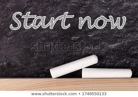 Oplossing vooruit verkeersbord motivatie leuze Blauw Stockfoto © tashatuvango