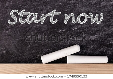 Solution panneau routier motivation slogan bleu Photo stock © tashatuvango