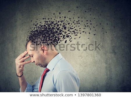 Dementia disease and a loss of brain function and memories as al Stock photo © dacasdo