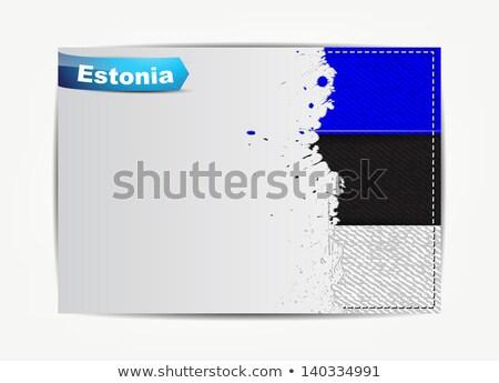エストニア フラグ グランジ 紙 フレーム 文字 ストックフォト © maxmitzu