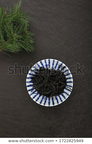 hijiki. dry brown alga Stock photo © joannawnuk