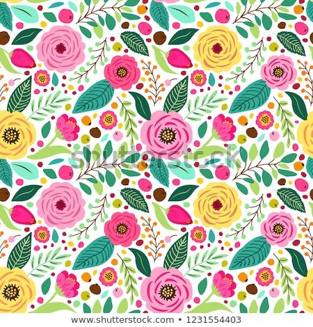 groene · naadloos · textuur · tulpen · voorjaar · achtergrond - stockfoto © jet