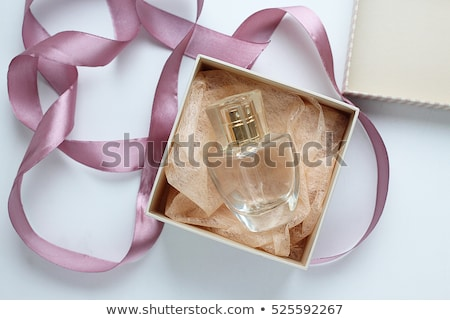 Beauty woman with cosmetics and parfume Stock photo © lordalea