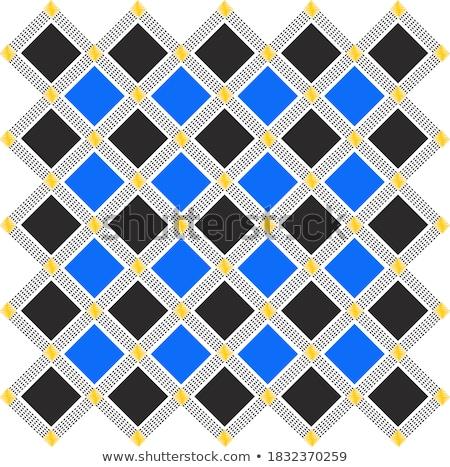Diamants noir luxe 3D lumière Photo stock © 123dartist