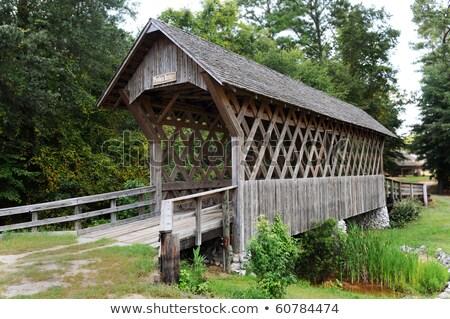 古い 木製 カバー 橋 アラバマ州 ストックフォト © alex_grichenko