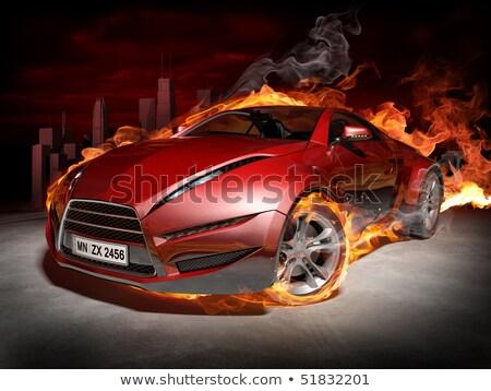 Fiery Blazing Sports Car  Stock photo © ArenaCreative