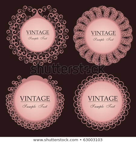 floral vintage ornament with place for text valentine card stock photo © elmiko