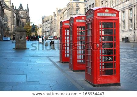 красный британский Эдинбург Шотландии телефон город Сток-фото © Julietphotography