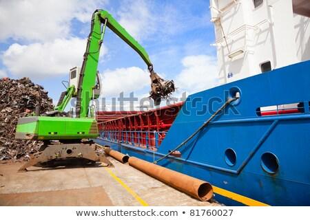 Recycling, loading scrap metal in the ship Stock photo © luckyraccoon