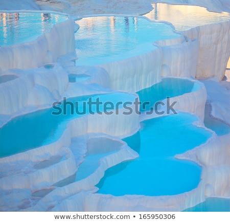 Turquoise water travertine pools at pamukkale Stock photo © IMaster