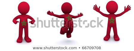 3D karakter bayrak Fas yalıtılmış Stok fotoğraf © Kirill_M