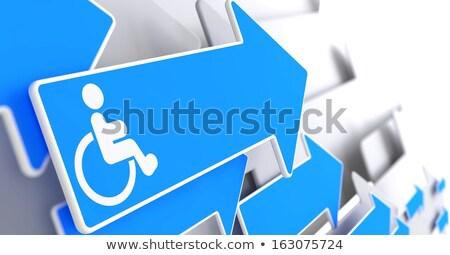 Adaptation for Disabled on Blue Arrow. Stock photo © tashatuvango
