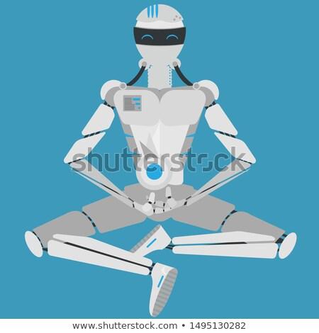 transzformátor · robot · izolált · fehér · 3d · render · fém - stock fotó © kirill_m