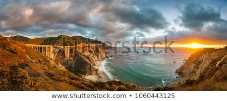 Kalifornia tengerpart nagy autópálya útvonal tavasz Stock fotó © lunamarina