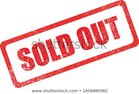 Stockfoto: Uitverkocht · Rood · geïsoleerd · witte · business