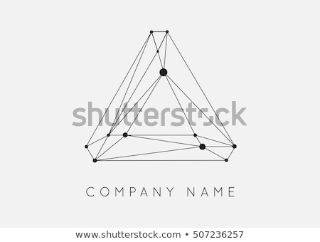 Stock photo: Cogwheel Gear Icon on Triangle Background.